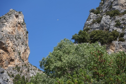 The gold star at Moustiers