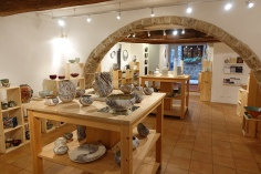 The shop of ceramics